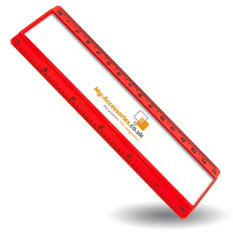 T6 Blank 6in Ruler Coloured - Red