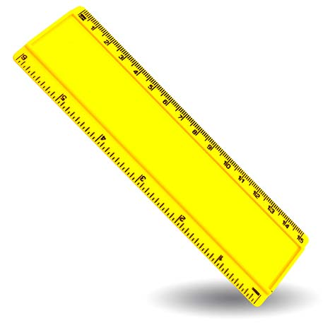T6 Blank 6in Ruler Coloured - Yellow Thumbnail