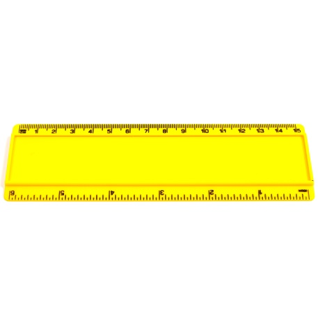 T6 Blank 6in Ruler Coloured - Yellow