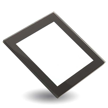 Black Square Blank Glass Photo Insert Coaster - 80 x 80mm (IC03) Thumbnail
