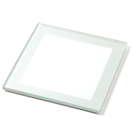 Silver IC03 Blank Glass 80mm x 80mm Coaster
