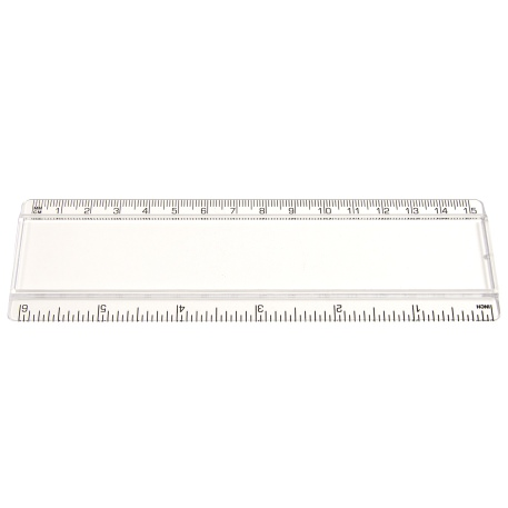 T6 Blank 6in Ruler - Clear