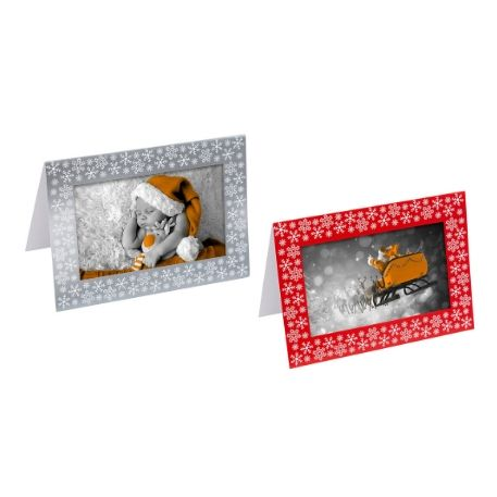 Silver 6 Pack Make your own Photo Christmas Cards