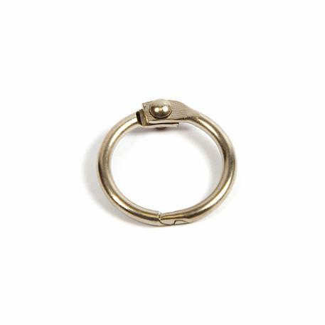 14mm Nickel Plated Hinged Joining Book Ring (RH14N)