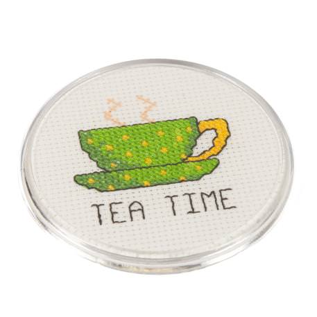 Round 80mm Blank Plastic Cross Stitch Insert Coaster