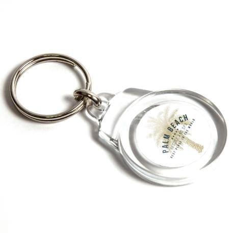 CR-25 Round Blank Plastic Photo Insert Keyring - 25mm