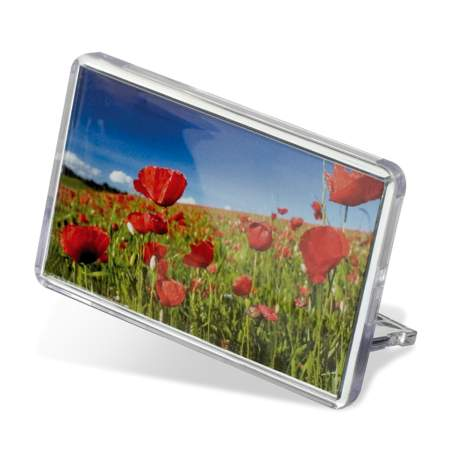 70mm x 45mm Rectangular FZ02 Blank Plastic Photo Insert Fridge Magnet Photo Frame