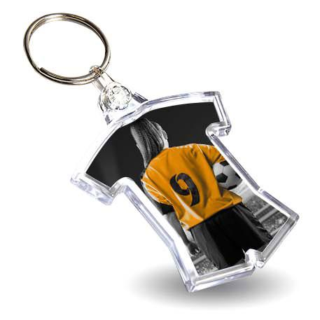 54 x 48mm Shirt Sports Blank Plastic Photo Insert Keyring (IF02)