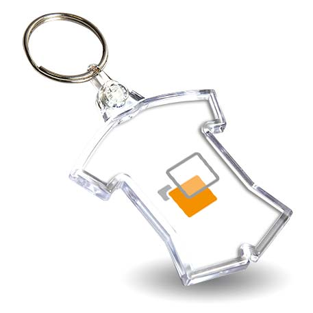 54 x 48mm Shirt Sports Blank Plastic Photo Insert Keyring (IF02) Thumbnail