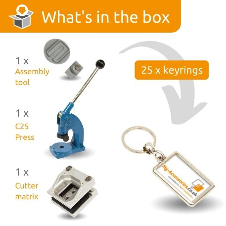 ML-40 STARTER PACK. Includes Machine, Cutter, Assembly Tool and 25 FREE Keyrings