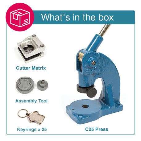 MX-D STARTER PACK. Includes Machine, Cutter, Assembly Tool and 25 FREE Keyrings