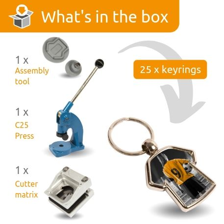 MX-D STARTER PACK. Includes Machine, Cutter, Assembly Tool and 25 FREE Keyrings Thumbnail