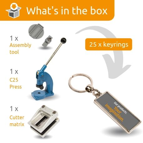 MA-18D STARTER PACK. Includes Machine, Cutter, Assembly Tool and 25 FREE Keyrings