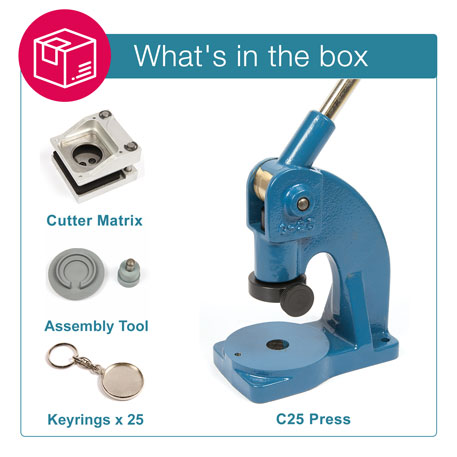 MO-33D STARTER PACK. Includes Machine, Cutter, Assembly Tool and 25 FREE Keyrings