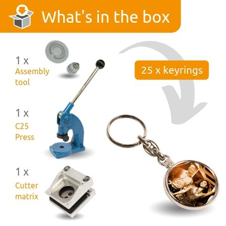 MO-33D STARTER PACK. Includes Machine, Cutter, Assembly Tool and 25 FREE Keyrings Thumbnail