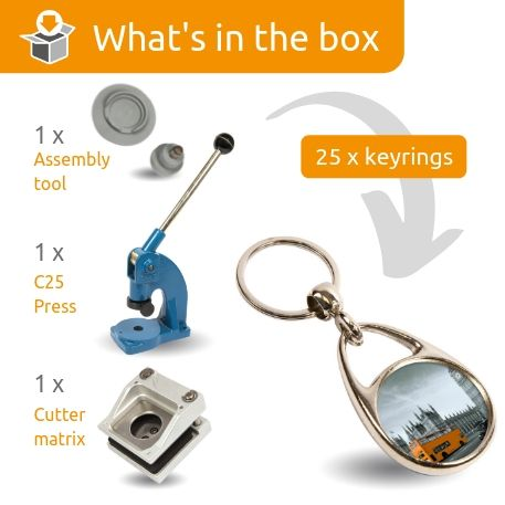 MS-30D STARTER PACK. Includes Machine, Cutter, Assembly Tool and 25 FREE Keyrings
