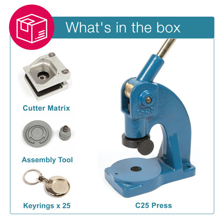 MT-25D STARTER PACK. Includes Machine, Cutter, Assembly Tool and 25 FREE Keyrings