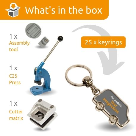 MV-N STARTER PACK. Includes Machine, Cutter, Assembly Tool and 25 FREE Keyrings Thumbnail