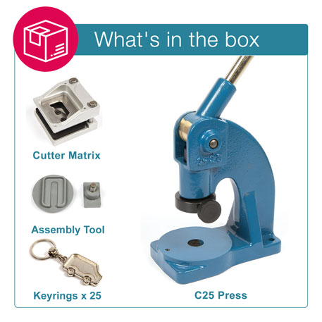 MV-N STARTER PACK. Includes Machine, Cutter, Assembly Tool and 25 FREE Keyrings