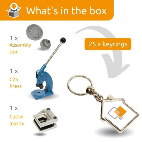 MY-D STARTER PACK. Includes Machine, Cutter, Assembly Tool and 25 FREE Keyrings