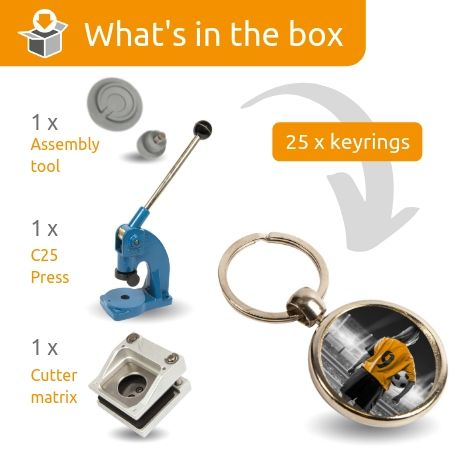 MGF STARTER PACK. Includes Machine, Cutter, Assembly Tool and 25 FREE Keyrings