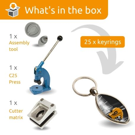 MRB STARTER PACK. Includes Machine, Cutter, Assembly Tool and 25 FREE Keyrings Thumbnail
