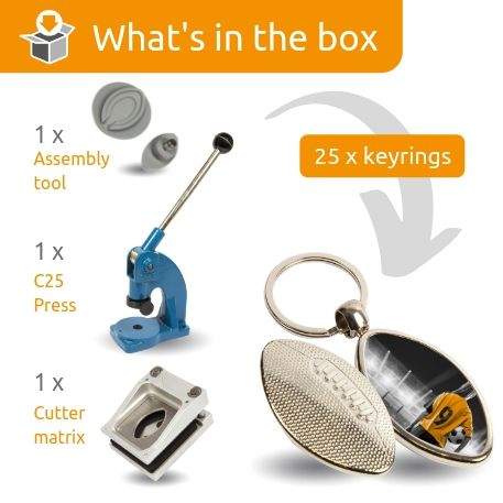 MRB STARTER PACK. Includes Machine, Cutter, Assembly Tool and 25 FREE Keyrings