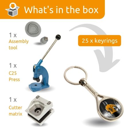 MTN STARTER PACK. Includes Machine, Cutter, Assembly Tool and 25 FREE Keyrings
