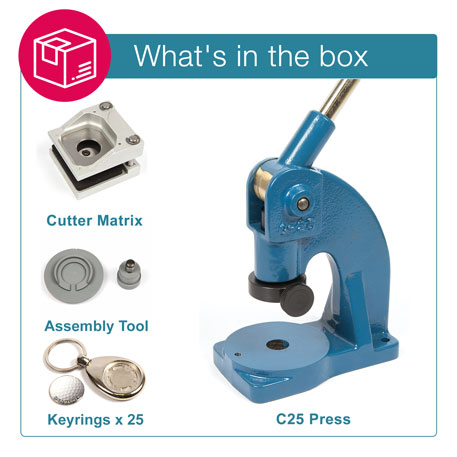 MH-GOLF STARTER PACK. Includes Machine, Cutter, Assembly Tool and 25 FREE Keyrings