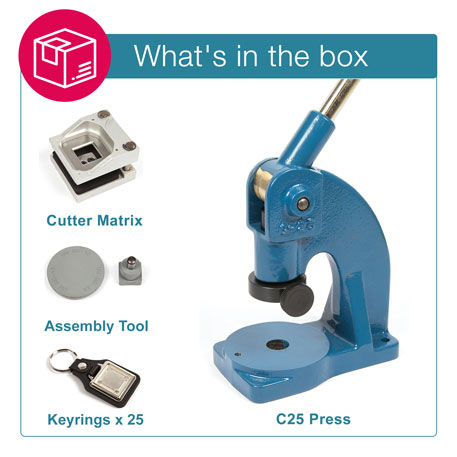 MD10 STARTER PACK. Includes Machine, Cutter, Assembly Tool and 25 FREE Keyrings