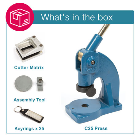 MD18 STARTER PACK. Includes Machine, Cutter, Assembly Tool and 25 FREE Keyrings