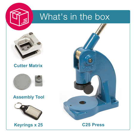 MD40 STARTER PACK. Includes Machine, Cutter, Assembly Tool and 25 FREE Keyrings