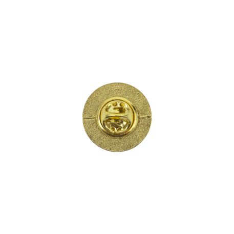 17mm Round Butterfly Pin Back Gold Metal Blank Badge (PIN-17G-BADGE) Thumbnail