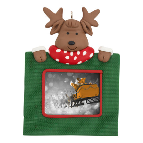 Blank Reindeer Christmas Tree Ornament Insert Size 45mm x 35mm Thumbnail