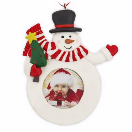 Blank Snowman Christmas Tree Ornament Insert Size 41mm Thumbnail