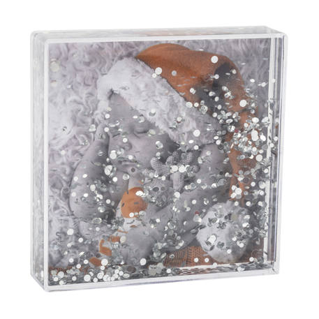 Blank Glitter Photo Block Frame Insert 102 x 102mm (4 x 4 inch)