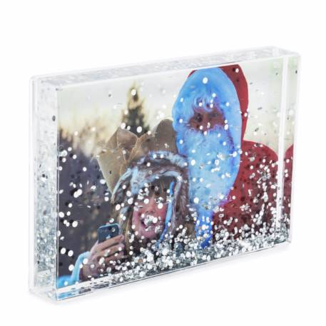 Blank Glitter Photo Block Frame Insert 152 x 102mm (6 x 4 inch)