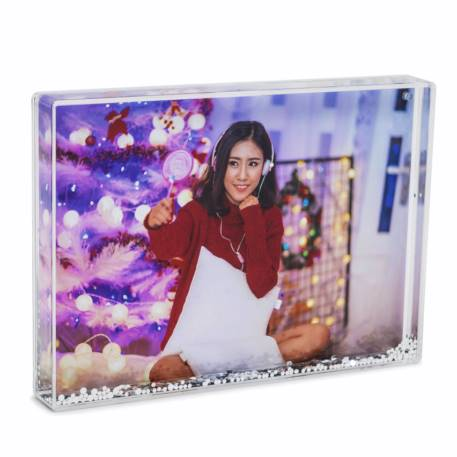 Blank Glitter Photo Block Frame Insert 7 x 5 inch