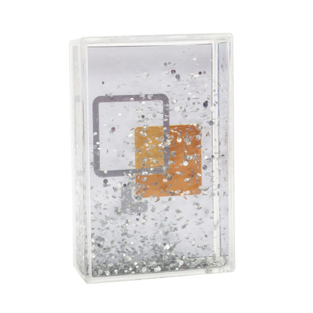 Blank Glitter Photo Block Frame Insert 85 x 54mm (3.3 x 2.1 inch)