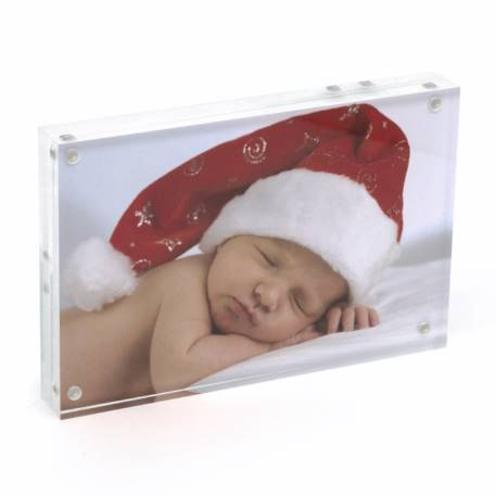 Blank Acrylic Magnetic Photo Frame Block Insert 152 x 102mm (6 x 4 inch) Thumbnail