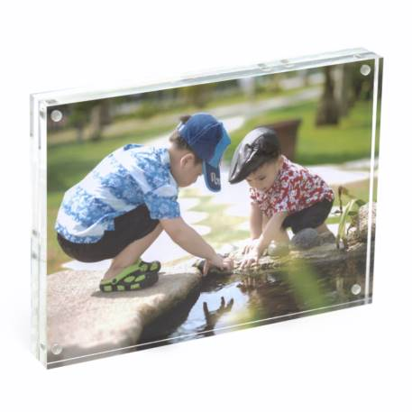 Blank Acrylic Magnetic Photo Frame Block Insert 7 x 5 inch