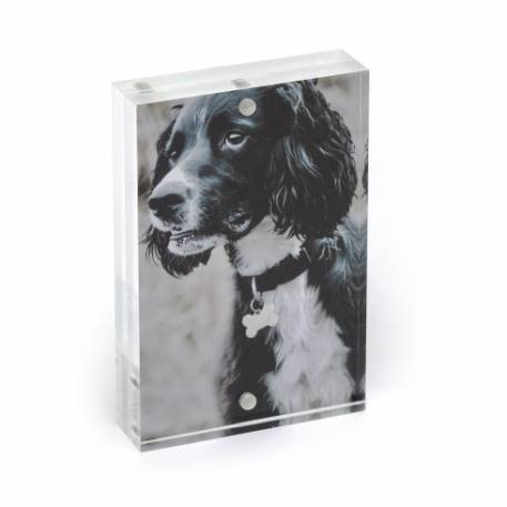 Blank Acrylic Magnetic Photo Frame Block Insert 90 x 60mm (3.5 x 2.3 inch) Thumbnail