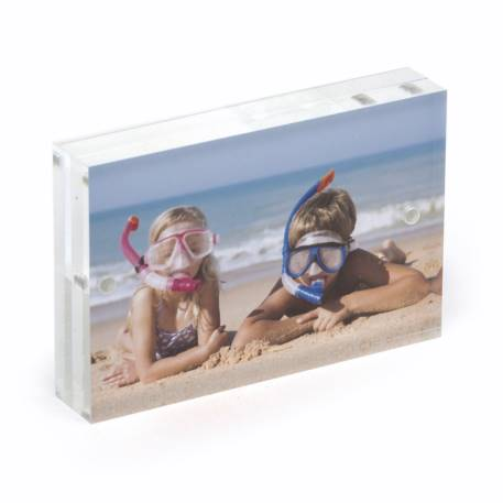 Blank Acrylic Magnetic Photo Frame Block Insert 90 x 60mm (3.5 x 2.3 inch)