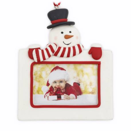 70mm x 45mm Blank Snowman Christmas Tree Ornament (XORN2-SNOWMAN)