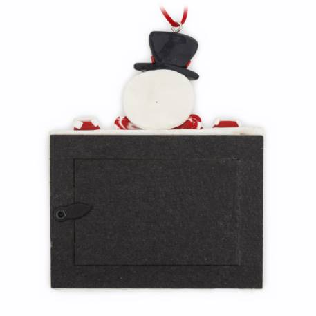 70mm x 45mm Blank Snowman Christmas Tree Ornament (XORN2-SNOWMAN) Thumbnail