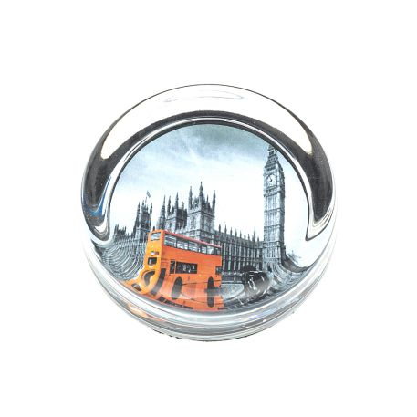 Small 70mm Diameter Glass Paperweight + felt base - Insert Size 55mm
