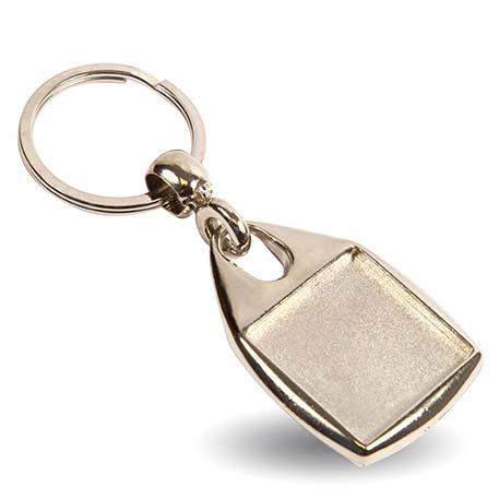 MF-25 Square Blank Metal Photo Insert Keyring - 25mm Thumbnail