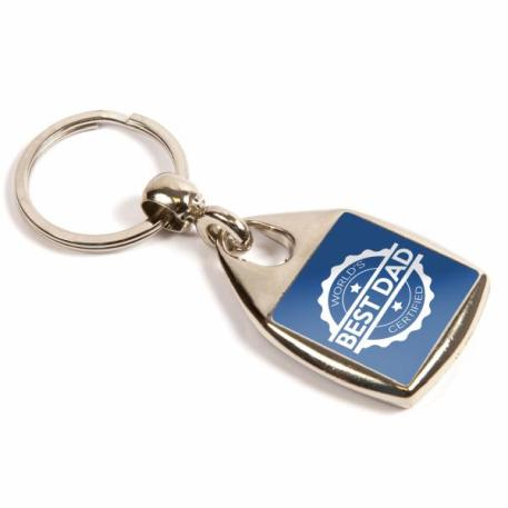 MF-25 Square Blank Metal Photo Insert Keyring - 25mm