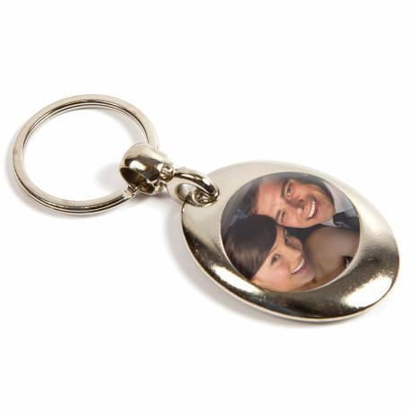 MP-25D Round Blank Metal Photo Insert Keyring - Insert 25mm