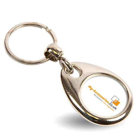 MH-25 Round Blank Metal Photo Insert Keyring Single Sided - 25mm Thumbnail
